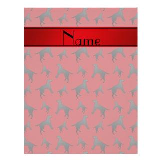 Personalized name red Labrador Retriever dogs 21.5 Cm X 28 Cm Flyer