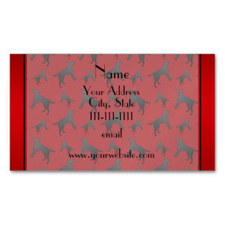 Personalized name red Labrador Retriever dogs Magnetic Business Card