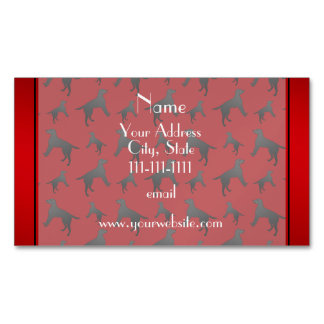 Personalized name red Labrador Retriever dogs Magnetic Business Cards