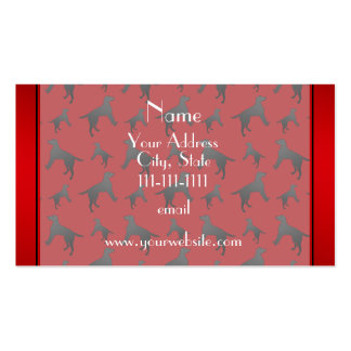 Personalized name red Labrador Retriever dogs Pack Of Standard Business Cards
