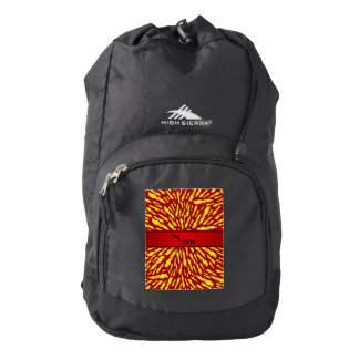 Personalized name red lightning bolts backpack