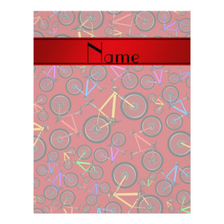 Personalized name red mountain bikes flyer