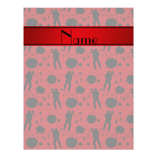 Personalized name red paintball pattern 21.5 cm x 28 cm flyer