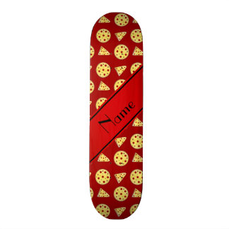 Personalized name red pizzas 18.1 cm old school skateboard deck