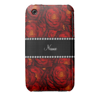 Personalized name red roses iPhone 3 cases