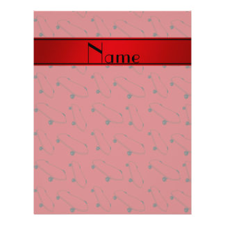 Personalized name red skateboard pattern 21.5 cm x 28 cm flyer
