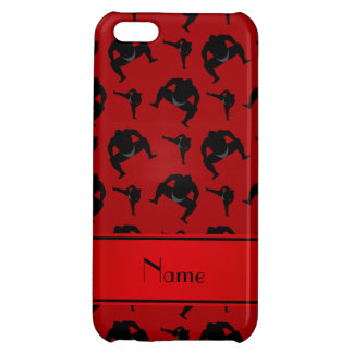 Personalized name red sumo wrestling case for iPhone 5C