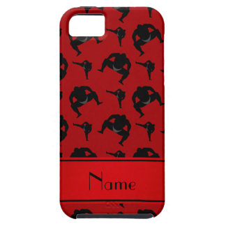 Personalized name red sumo wrestling iPhone 5 cases
