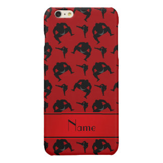 Personalized name red sumo wrestling iPhone 6 plus case