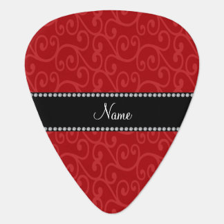 Personalized name red swirls pick