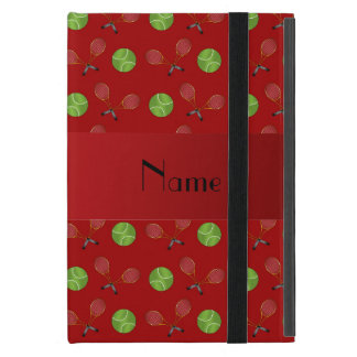 Personalized name red tennis balls cover for iPad mini