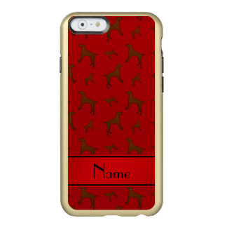 Personalized name red Vizsla dogs Incipio Feather® Shine iPhone 6 Case