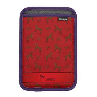 Personalized name red Vizsla dogs iPad Mini Sleeves