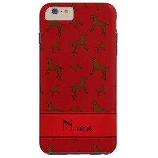 Personalized name red Vizsla dogs Tough iPhone 6 Plus Case