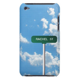 Personalized Name Road Street Sign on Blue Sky Barely There iPod Case
