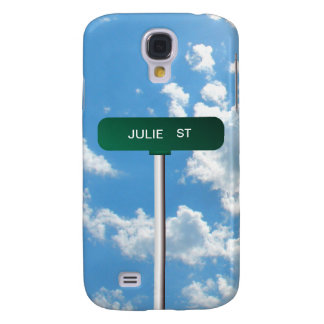 Personalized Name Road Street Sign on Blue Sky Galaxy S4 Case