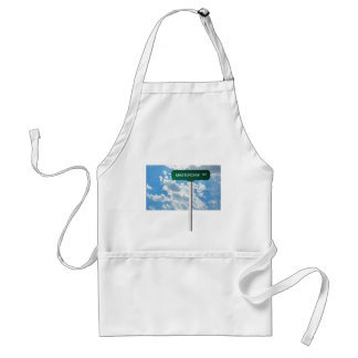 Personalized Name Road Street Sign on Blue Sky Standard Apron