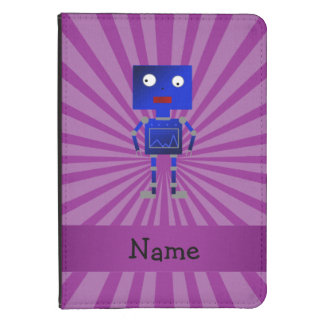 Personalized name robot purple sunburst kindle touch cover