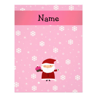 Personalized name santa cupcake pink snowflakes 21.5 cm x 28 cm flyer