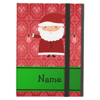 Personalized name santa red snowman trellis cover for iPad air