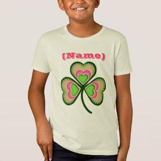 Personalized Name Shamrock Tee Shirt