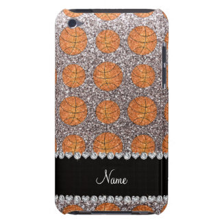 Personalized name silver glitter basketballs Case-Mate iPod touch case