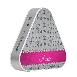 Personalized name silver gymnastics