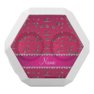 Personalized name silver magenta pink gymnastics white boombot rex bluetooth speaker