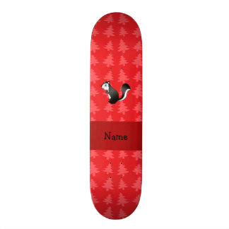 Personalized name skunk red christmas trees skateboards