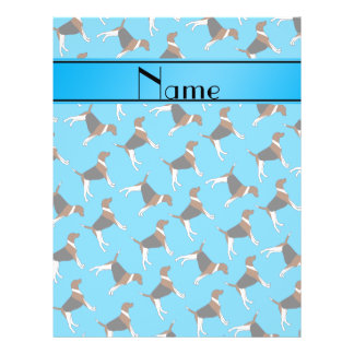 Personalized name sky blue american foxhound dogs 21.5 cm x 28 cm flyer