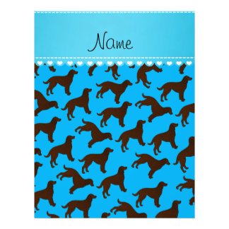 Personalized name sky blue american water spaniels 21.5 cm x 28 cm flyer