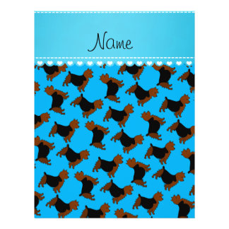 Personalized name sky blue australian terrier dogs 21.5 cm x 28 cm flyer