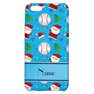 Personalized name sky blue baseball christmas iPhone 5C covers