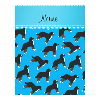Personalized name sky blue Bernese Mountain dogs 21.5 Cm X 28 Cm Flyer