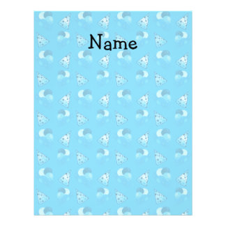 Personalized name sky blue birthday pattern 21.5 cm x 28 cm flyer
