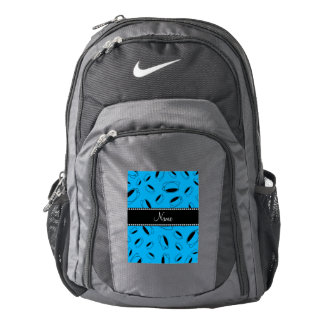 Personalized name sky blue coffee cup backpack