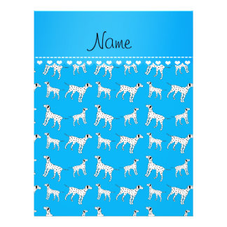 Personalized name sky blue dalmatian dogs 21.5 cm x 28 cm flyer