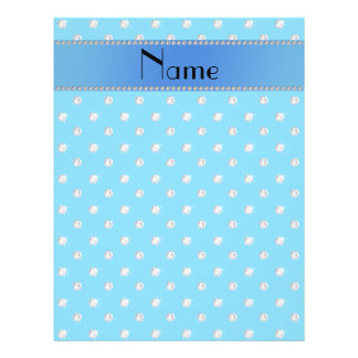 Personalized name sky blue diamonds personalized flyer