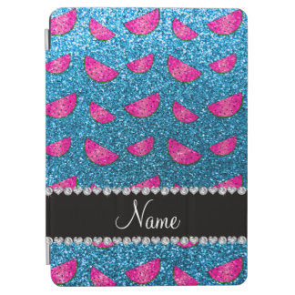 Personalized name sky blue glitter watermelons iPad air cover