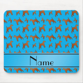 Personalized name sky blue irish terrier dogs mouse pad