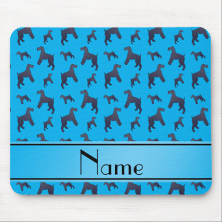 Personalized name sky blue Kerry Blue Terrier dogs Mouse Pad