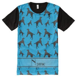 Personalized name sky blue Labrador Retriever dogs All-Over Print T-Shirt