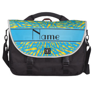 Personalized name sky blue lightning bolts bag for laptop