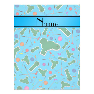 Personalized name sky blue mini golf personalized flyer