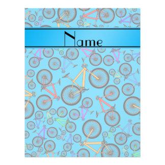 Personalized name sky blue mountain bikes custom flyer