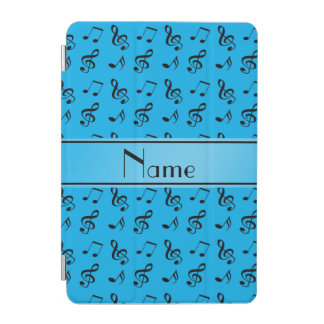 Personalized name sky blue music notes iPad mini cover