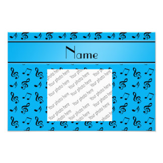 Personalized name sky blue music notes photograph