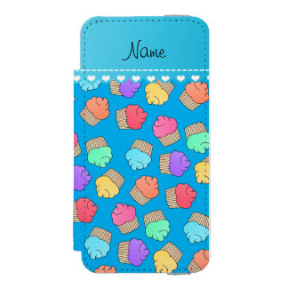 Personalized name sky blue rainbow cupcakes incipio watson™ iPhone 5 wallet case