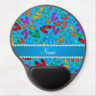 Personalized name sky blue rainbow sandals gel mouse pad
