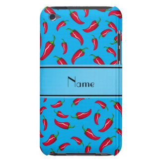 Personalized name sky blue red chili pepper iPod touch covers